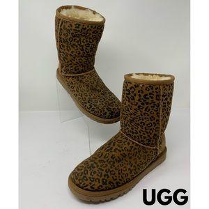 UGG Plush Leopard Print Boots